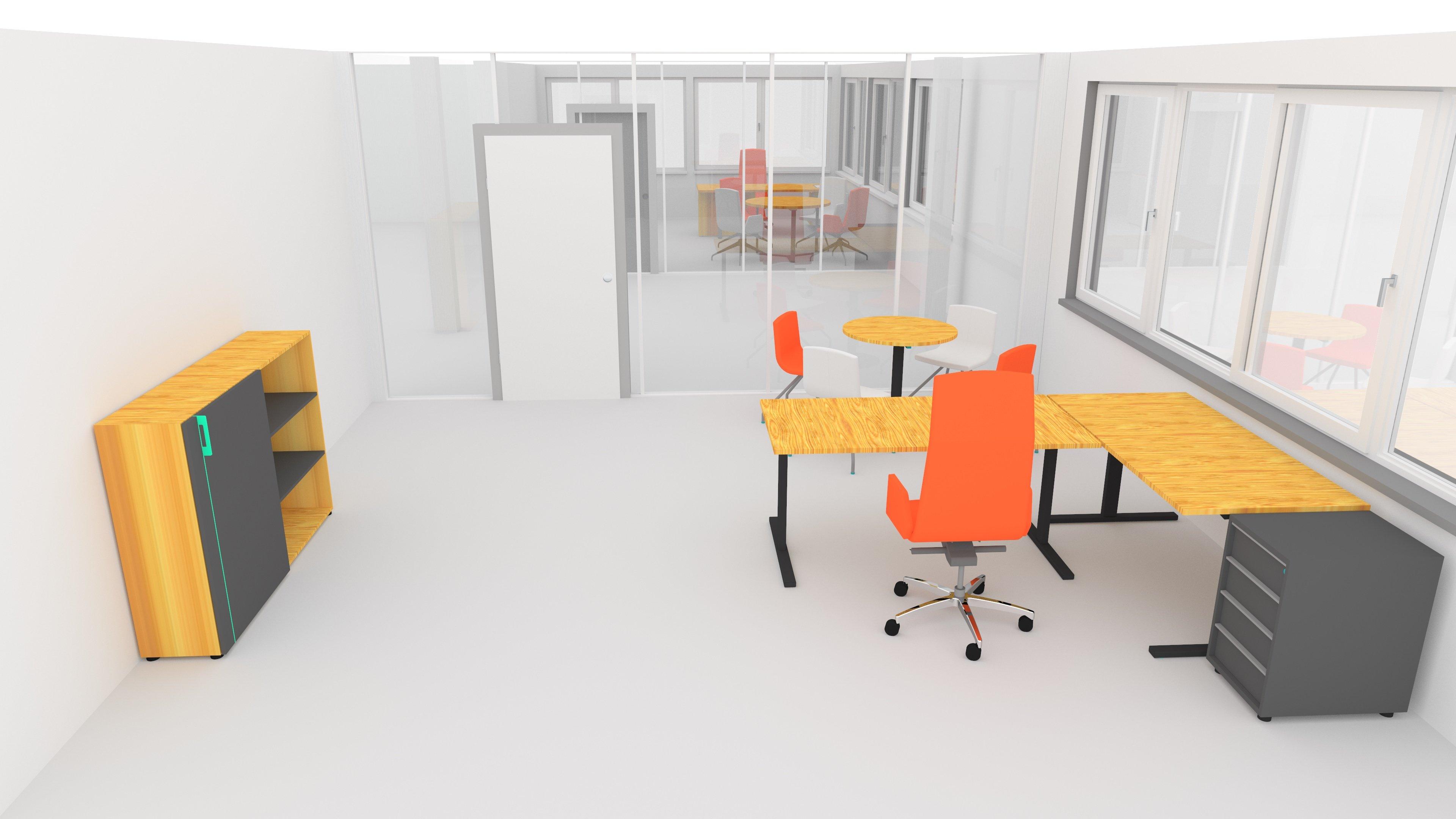 OGE Einzelbüro HV-Tisch