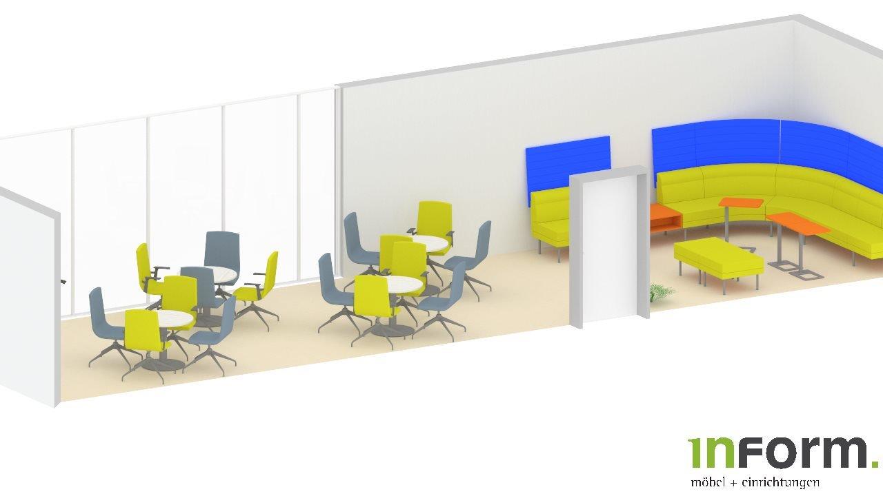 Plan Cafeteria und Lounche Ansicht 1.2 Vorne